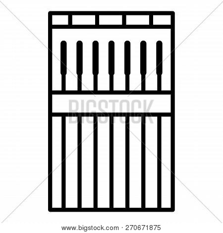 Welder Stick Icon. Outline Welder Stick Vector Icon For Web Design Isolated On White Background
