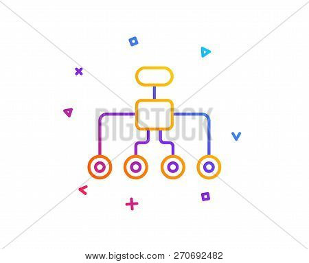Restructuring Line Icon. Business Architecture Sign. Delegate Symbol. Gradient Line Button. Restruct