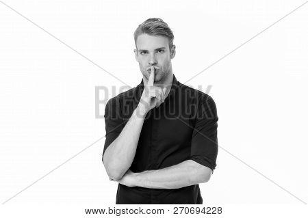 Businessman Keep A Secret. Secret Business Of Businessman. Secret Of Business Success For Businessma
