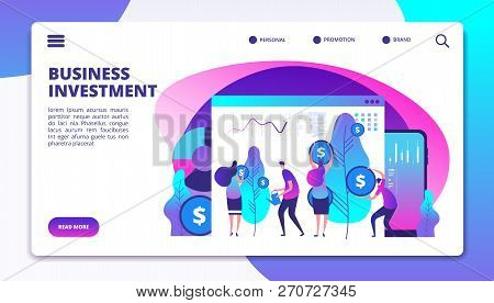 Investments Landing Page. Investment Fund Managers Make Profit For Clients. Cash Revenue Consolidati