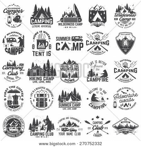 Summer Camp. Vector. Concept For Shirt Or Patch, Print, Stamp Or Tee. Vintage Typography Design With