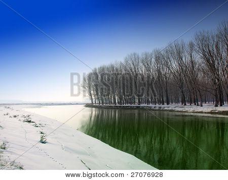 winter landscape of a river