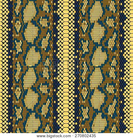 Structure Snake Skin Seamless Vector Pattern For Girls, Boys, Clothes. . Reptile Seamless Texture. A