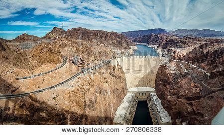 Wandering Around Hoover Dam On Lake Mead In Nevada And Arizona