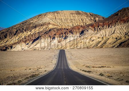 Lonely Road In Death Valley National Park In California