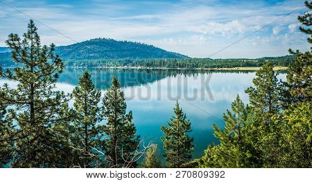Beautiful Nature Around A Lake In Montana