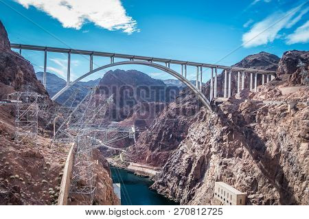 Scenes Around Hoover Dam And  Mike O'callaghan - Pat Tillman Memorial Bridge Plaza