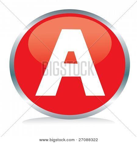 Letter A button