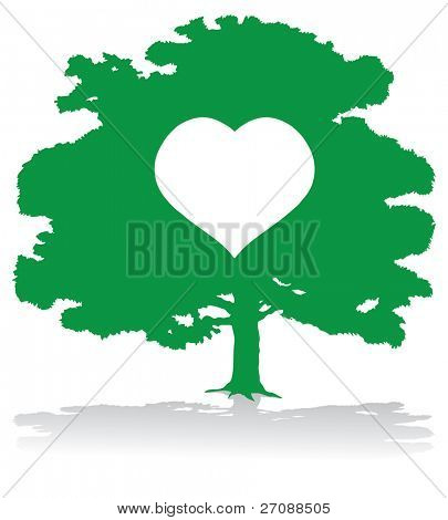 Green heart tree