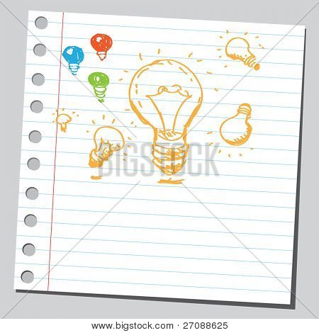 Scribble flashbulbs poster