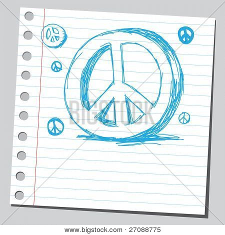 Scribble peace sign