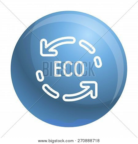 Eco recycle arrow icon. Outline eco recycle arrow vector icon for web design isolated on white background poster