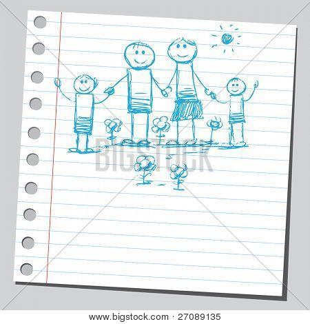 Scribble happy family