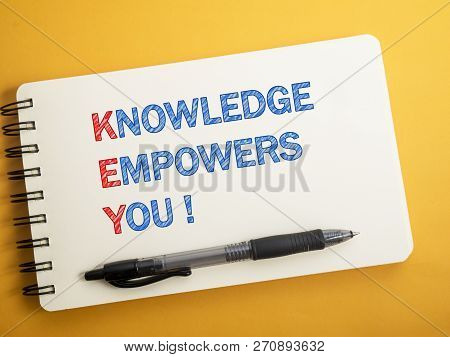 Key, Knowledge Empowers You, Motivational Words Quotes Concept