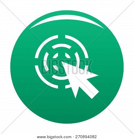 Cursor Interactive Icon. Simple Illustration Of Cursor Interactive Vector Icon For Any Design Green