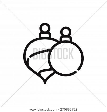 Decoration Bauble Icon Isolated On White Background. Decoration Bauble Icon In Trendy Design Style.