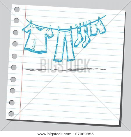 Scribble laundry