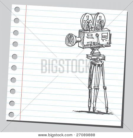 Scribble movie camera