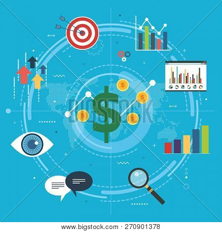 Growth Chart, Startup Sucess And Money Profit. Business, Growth, Chart And Finance Icons. Startup An