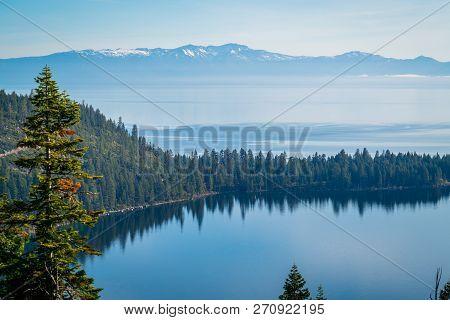 Keep Lake Tahoe Blue A Dream Like Landscape Of Sierra Nevada Mountains Looking Over Emerald Bay Wate
