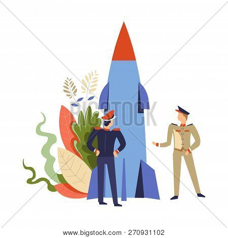 People In Army Rocket Missile Commander And Soldier