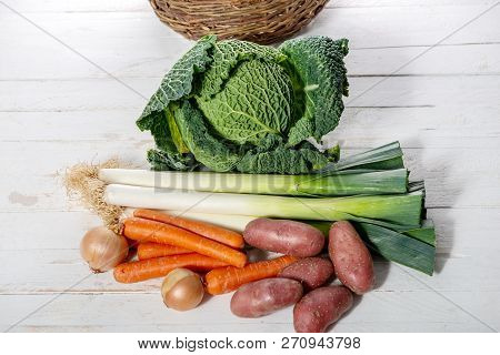 Seasonal Vegetables For Preparation Of A French Pot Au Feu