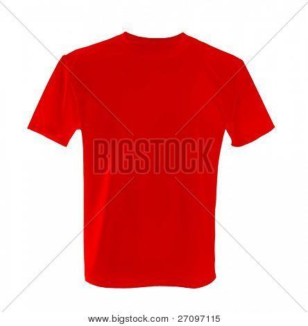 Rotes t-shirt ñan als Entwurfsvorlage verwendet werden.