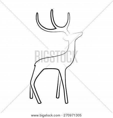 elk reindeer outline vector photo free trial bigstock