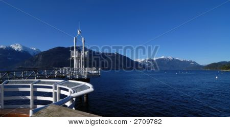 Dock At Porteau Cove Marine Park, British Columbia