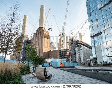 London, Uk - 31 October 2018: A View Of The Extensive Redevelopment Work Being Carried Out To The Ic
