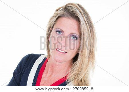 Natural Woman Beauty Blonde Middle Aged Portrait