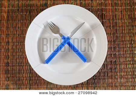 Empty plate.