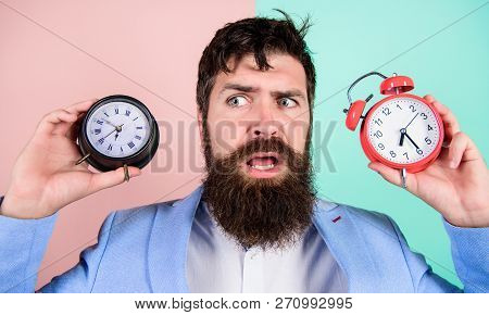 Changing Time Zones Affect Health. Time Zone. Does Changing Clock Mess With Your Health. Man Bearded