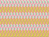 pastel pink retro scallop pattern (vector) - illustration background poster