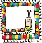 Funny doodle caterpillar poster