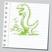 Scribble dinosaur poster