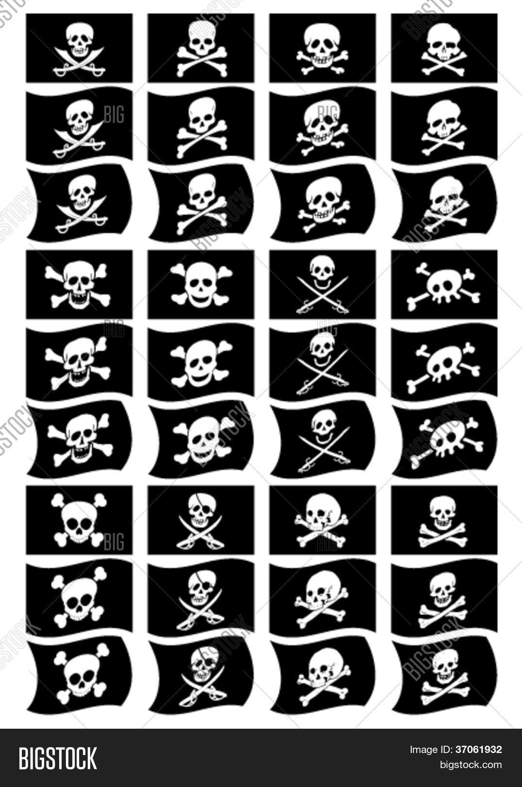 Pirate Flags Vector Photo Free Trial Bigstock