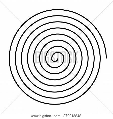Spiral Sign Isolated On White Background. Vector Spiral For Web And Applications.