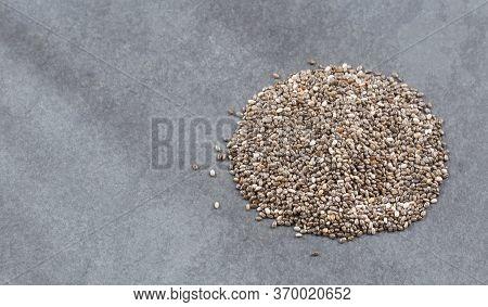 Organic Chia Seeds - Salvia Hispanica. Top View