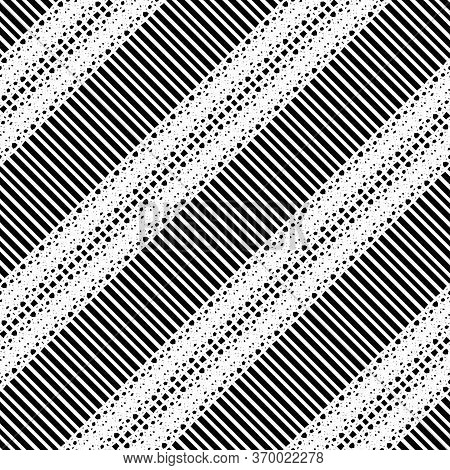 Design Seamless Monochrome Grating Pattern. Abstract Stripy Background. Vector Art