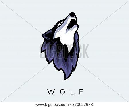 Elegant E-sport Head Wolf Art Logo Design Inspiration