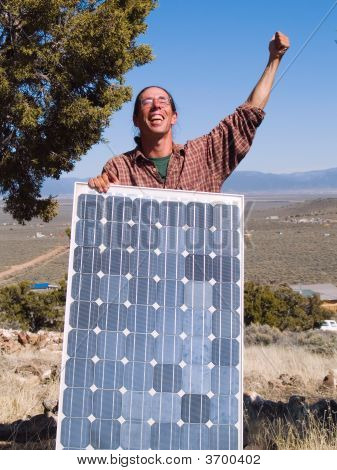Happy Solar Panel Owner