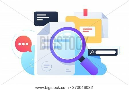 Magnifier Searching Infortmation Using Documents And Internet. Isolated Concept Equipment For Collec
