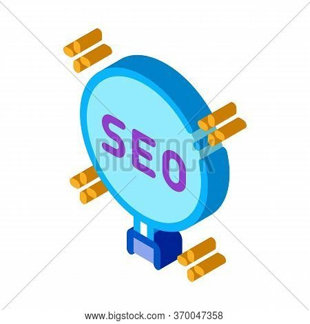 Learning Search Engine Optimization Icon Vector. Isometric Learning Search Engine Optimization Sign.