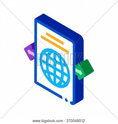 Choosing Place To Go Icon Vector. Isometric Choosing Place To Go Sign. Color Isolated Symbol Illustr