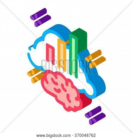 Brainstorming Chart Icon Vector. Isometric Brainstorming Chart Sign. Color Isolated Symbol Illustrat