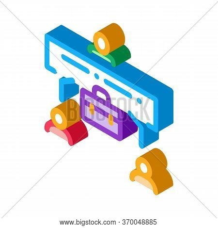 Realtor With Buyer And Seller Icon Vector. Isometric Realtor With Buyer And Seller Sign. Color Isola