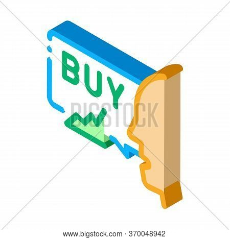Person Buyer Icon Vector. Isometric Person Buyer Sign. Color Isolated Symbol Illustration