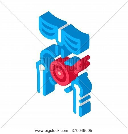 Hip Arthritis Icon Vector. Isometric Hip Arthritis Sign. Color Isolated Symbol Illustration