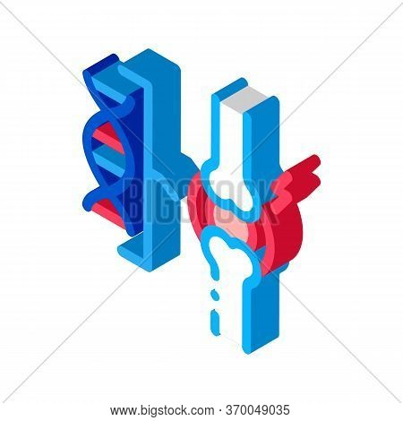Dna Blood Joint Pain Icon Vector. Isometric Dna Blood Joint Pain Sign. Color Isolated Symbol Illustr